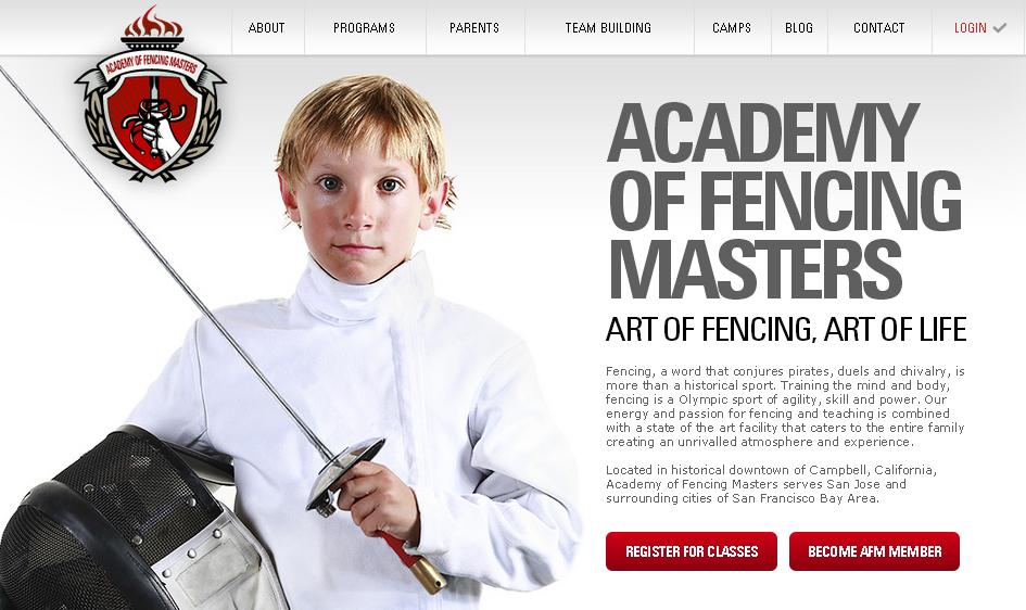 Academy of Fencing Masters Official Website