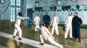 Why are fencing uniforms white?