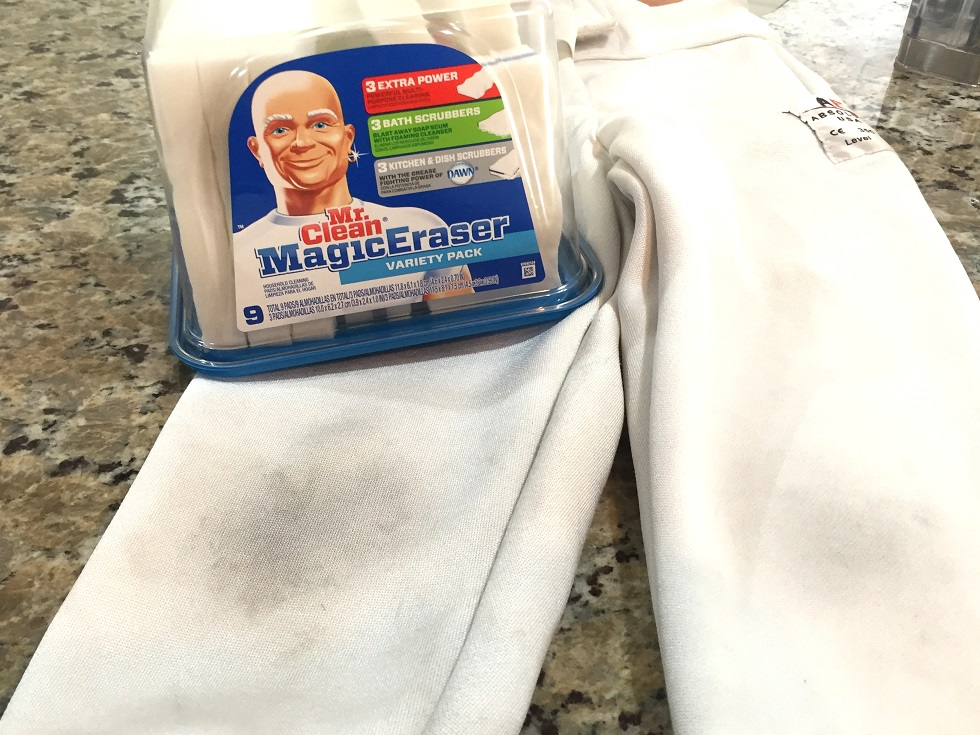 how to clean fencing knickers