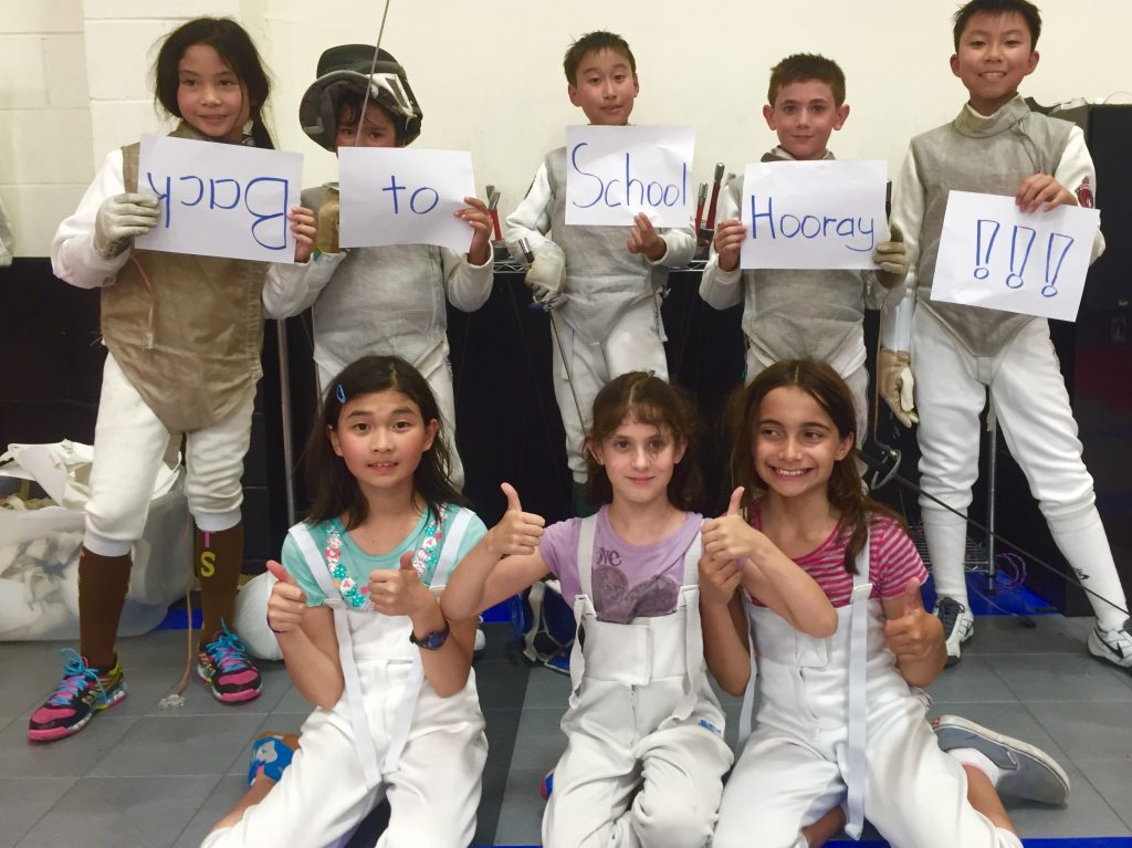 Back to School For Fencers